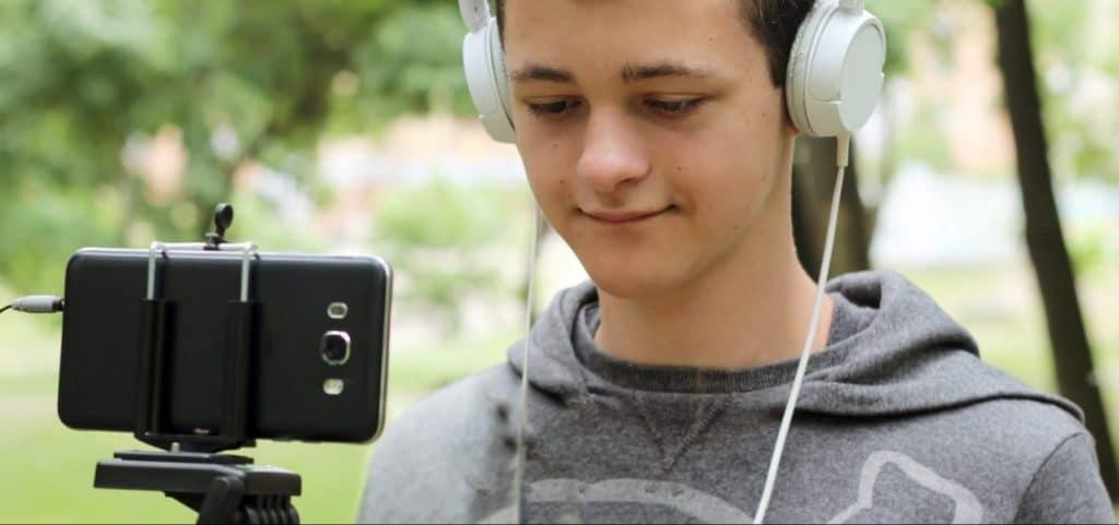 student recording video e1521803717301